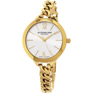 Stuhrling Original Women's Vogue Swiss Quartz Gold Tone Bracelet Watch