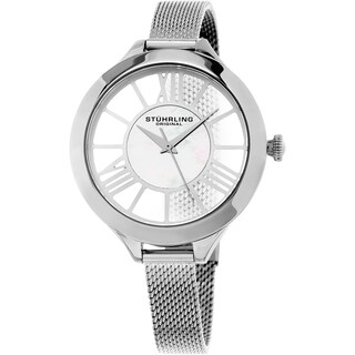 Stuhrling Original Women's Winchester Quartz Stainless Steel Mesh Band Watch