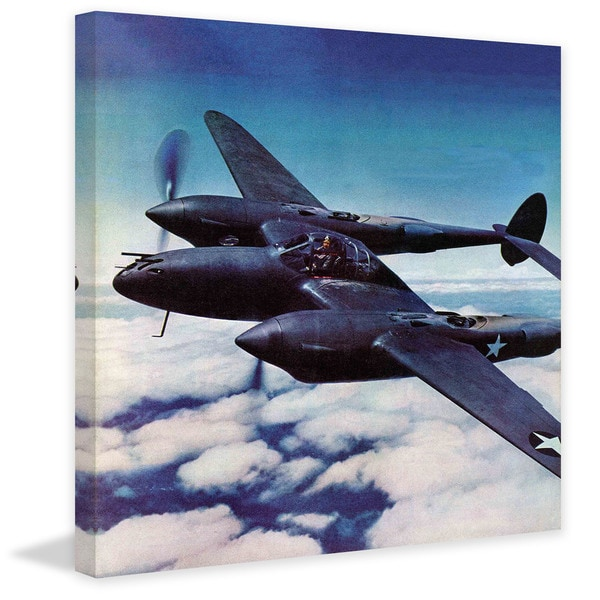 """Marmont Hill - """"Black Plane"""" Painting Print on Canvas"""