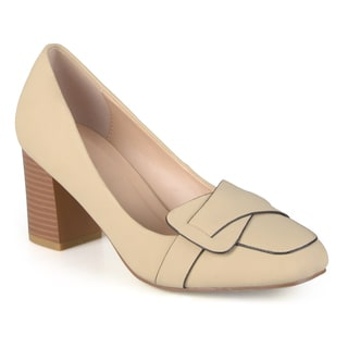 Journee Collection Women's 'Cass' Vintage Mid Heel Loafer Pumps