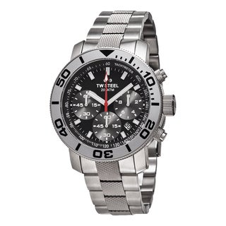 TW Steel Men's TW706 'Grandeur Dive' Black Dial Stainless Steel Chronograph Quartz Watch