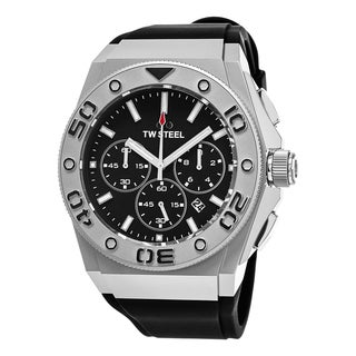 TW Steel Men's CE5009 ''Ceo Diver' Black Dial Black Rubber Strap Chronograph Quartz Large Watch