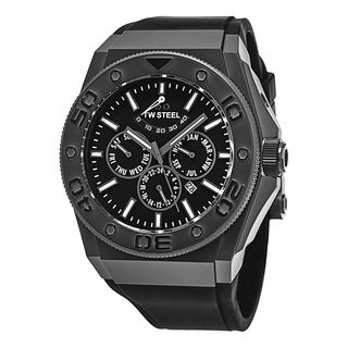 TW Steel Men's CE5001 'Ceo Diver' Black Dial Black Rubber Strap Day Date Automatic Watch