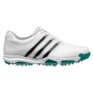 Adidas Men's Tour 360 X Running White/ Core Black/ Power Green Golf Shoes