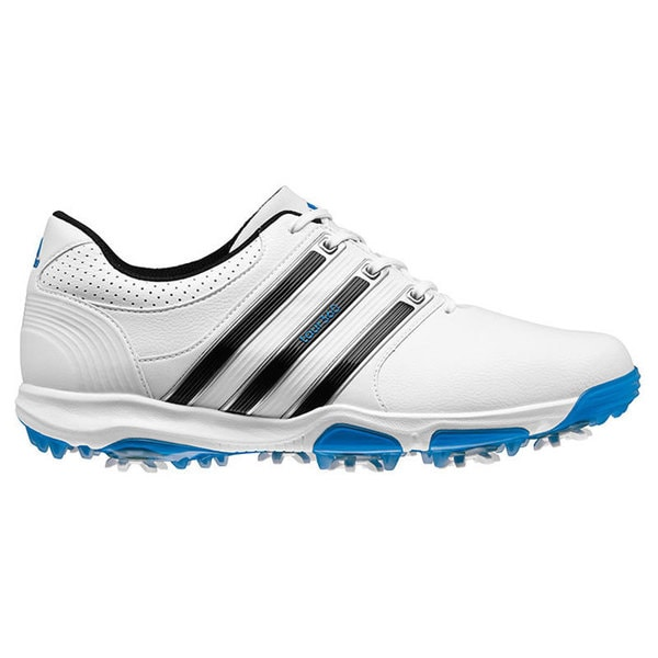 Adidas Men's Tour 360 X Running White/ Core Black/ Blue Golf Shoes