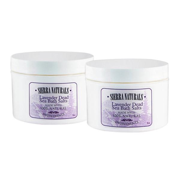 Sierra Naturals Handmade Organic Scented Lavender Dead Sea Bath Salts