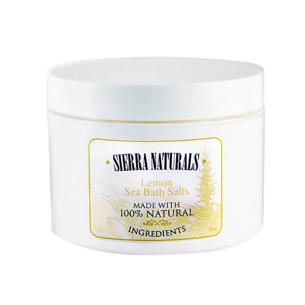 Sierra Naturals Handmade Organic Scented Lemon Dead Sea Bath Salts