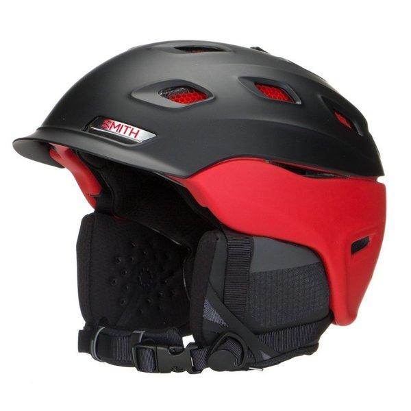 Smith Optics Vantage Unisex Adult Snow Helmet - Medium (Matte Black/Red)