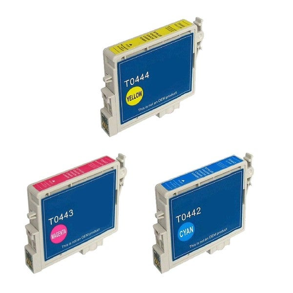3 Pack Epson T044220 T044320 T044420 Cyan Yellow Magenta Compatible Ink Cartridge For Epson Stylus C64 ( Pack of 3 )