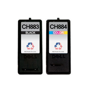 2 Pack Dell CH883 Series 7 GR274 CH884 Series 7 GR277 Compatible Ink Cartridge For Dell Inkjet A966 A968 A968W ( Pack of 2 )