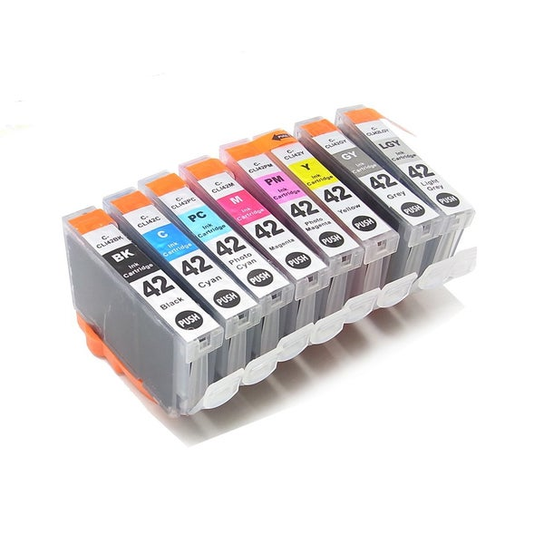 8PK CLI-42BK C M Y PC PM GY LGY Compatible Ink Cartridge For Canon PIXMA Pro 100 ( Pack of 8 )