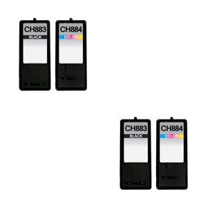 4 Pack Dell CH883 Series 7 GR274 CH884 Series 7 GR277 Compatible Ink Cartridge For Dell Inkjet A966 A968 A968W ( Pack of 4 )