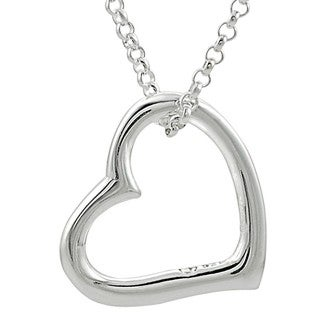 Tressa Sterling Silver Floating Heart Necklace