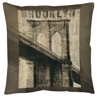 Thumbprintz Vintage NY Brooklyn Floor Pillow