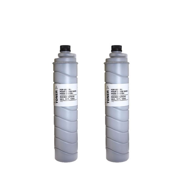 2PK Compatible 887994 ( Type 5105D Type 5205 Type 5305D ) Toner Cartridges For Ricoh AC205 ( Pack of 2 )