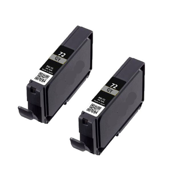 2PK PGI-72GY Compatible Ink Cartridge For Canon PIXMA Pro 10 ( Pack of 2 )