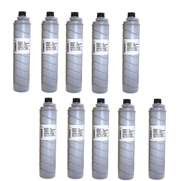 10PK Compatible 887994 ( Type 5105D Type 5205 Type 5305D ) Toner Cartridges For Ricoh AC205 ( Pack of 10 )