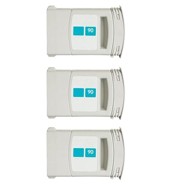 3PK C5061A #90 Cyan Compatible Ink Cartridge For HP DesignJet 4000 4500 Series ( Pack of 3 )
