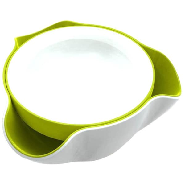Joseph Joseph White and Green Double Dish