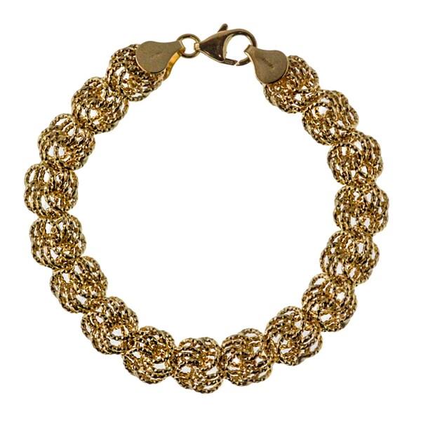 14K Yellow Gold 10MM DC Rosetta Bracelet