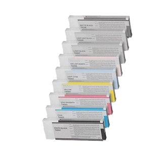 9 Pack Epson T6061 T6062 T6063 T6064 T6065 T6066 T6067 T6068 T6069 Compatible Ink Cartridge For Epson 4800 ( Pack of 9 )