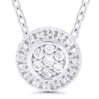 Sterling Silver 1/10ct TDW Diamond Round Pendant (I-J, I2-I3)
