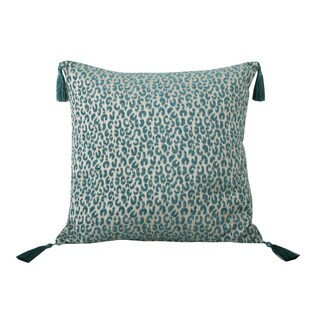 Thro by Marlo Lorenz Gabriella Cheetah Feather 20-inch Filled Pillow with Tassles