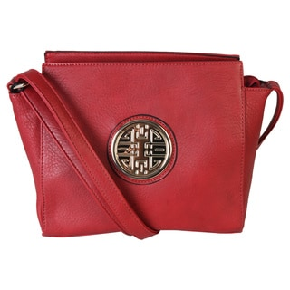 Diophy Double Happiness Signature Metal Logo Crossbody Messenger Bag