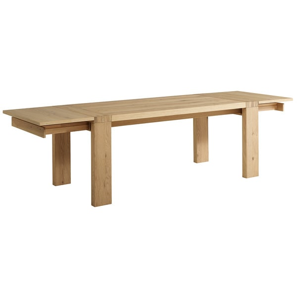 Aaron French Oak Dining Table with Extensions
