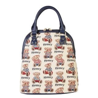 Henney Bear Doctor Bowler Handbag