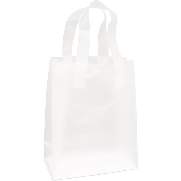 Clear Frosted Flex Loop Shopper