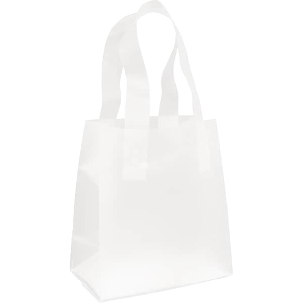 Clear Frosted Flex Loop Large Shopper