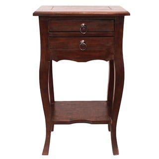 Leila Mahogany Wood Accent And End Table