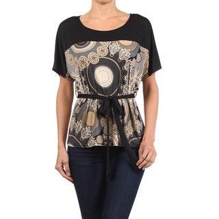 Moa Collection Women's Mandala Print Top with Belt