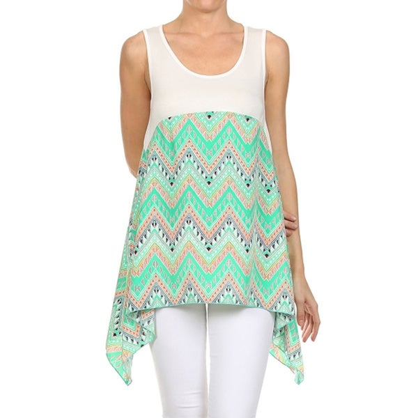 Moa Women's Duo Zig-Zag Tank Top