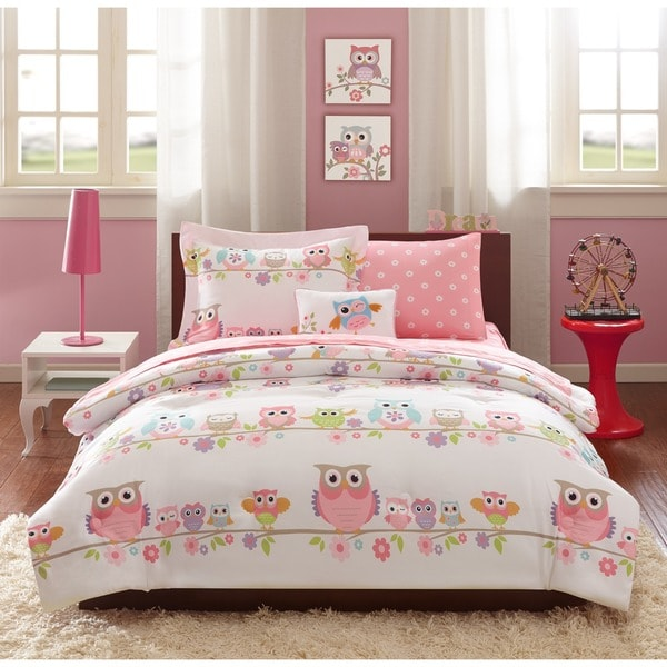 Mi Zone Kids Nocturnal Nellie Pink Complete Bed and Twin Size Sheet Set (As Is Item) 26734187