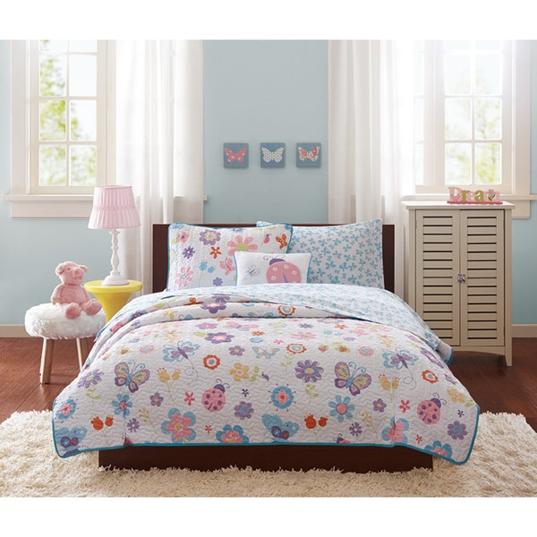 Mi Zone Kids Butterfly Bonanza Complete Coverlet and Sheet Set