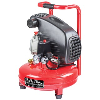 General International 1.5hp 4-gallon Pancake Air Compressor
