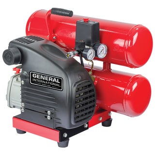 General International 1.5hp 4-gallon Twin-stack Air Compressor