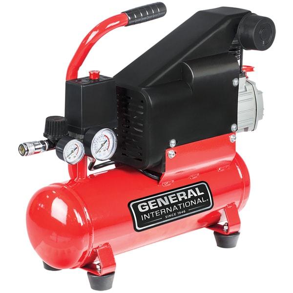 General International 1hp 2-gallon Hot Dog Air Compressor