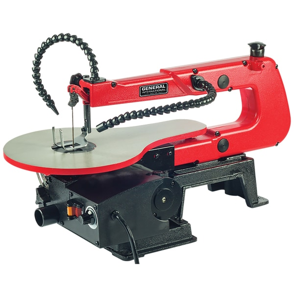 General International 16-inch Variable-speed Scroll Saw (With Multi-directional Led Light)