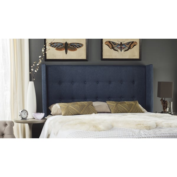 Safavieh Damon Denim Blue Winged Headboard (Full)