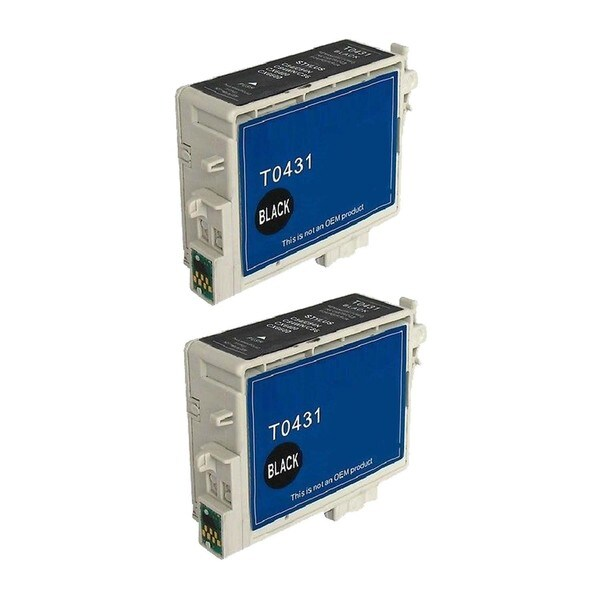 2 Pack Epson T043120 Black Compatible Ink Cartridge For Epson Stylus C84 C86 ( Pack of 2 )