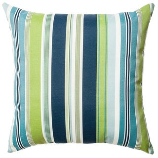 Sunline Agia Stripe Indoor/Outdoor Down and Feather Filled Throw Pillow 2pk