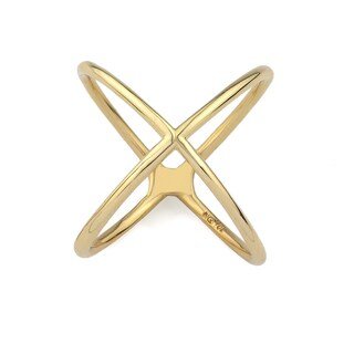 10k Yellow Gold Criss-cross Fashion Size 7 Ring