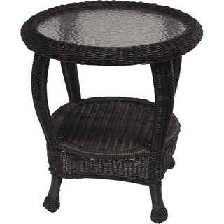 Premium 22-inch Resin Wicker End Table