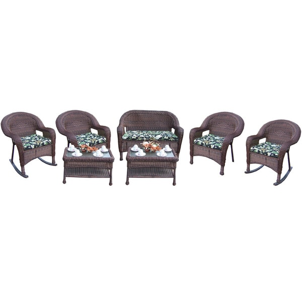 Premium Resin Wicker 7-piece. Seating Set