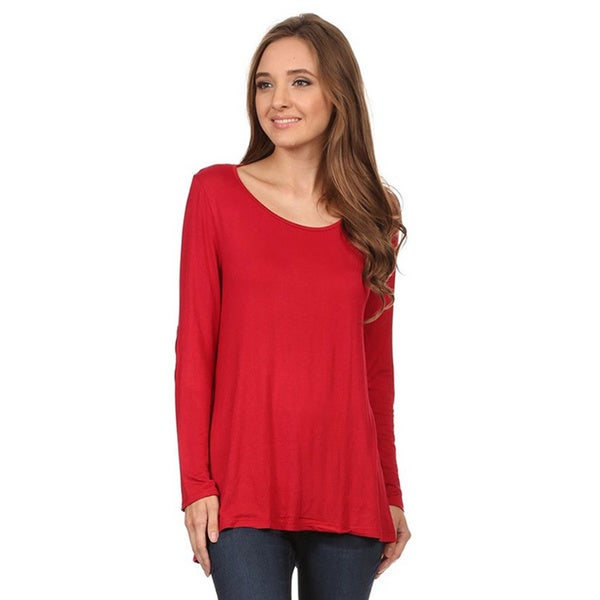 Moa Women's Top with Faux Suede Elbow Patches