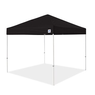 Black / Tan Fabric Pyramid Instant Shelter (10' x 10')