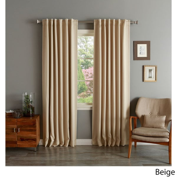 Aurora Home Insulated Thermal Blackout 84-inch Curtain Panel Pair in Brown (As Is Item)